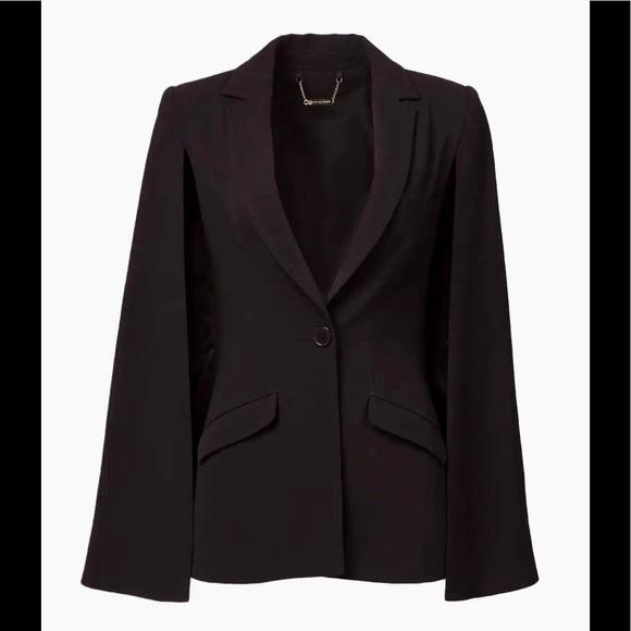 Trina Turk Bee Cape Blazer Jacket Black